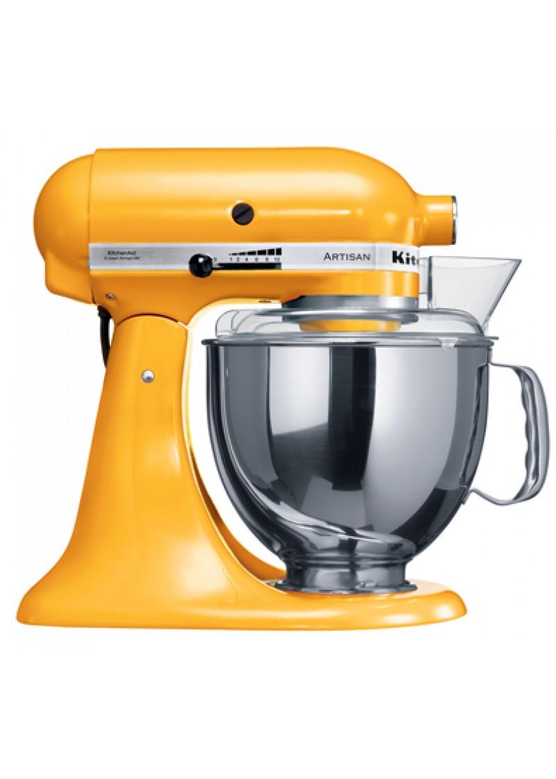 Robot de cocina kitcheiaid artisan 5ksm150psyg amarillo for Precio de robot de cocina