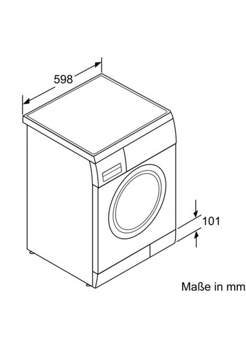 Balay 3ts60107 lavadora carga frontal for Medidas de lavadoras