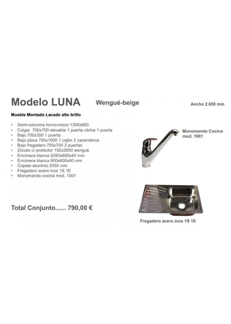 Mueble de Cocina Inve Montado Luna Lacado Wengué-beige