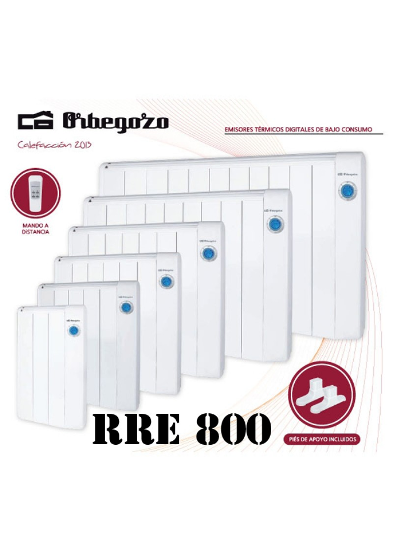 Emisores t rmicos orbegozo rre 800 w radiadores bajo consumo - Emisores termicos de bajo consumo ...