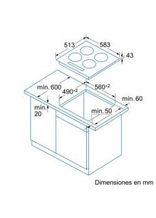 Balay 3EB720XR Encimera Vitrocerámica 4 fuegos