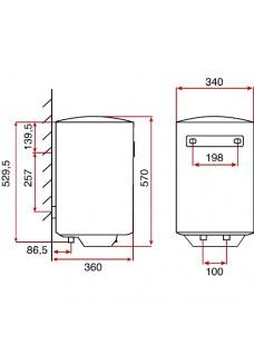 Teka EWH 30 Termo Eléctrico 30 Litros 1500 W.