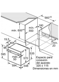 Balay 3HB4331N0 Medidas de encastre