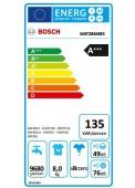 Clasificación Energética Bosch WAT28468ES